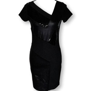 A/X Armani Exchange Bodycon Sequin Banded Dress